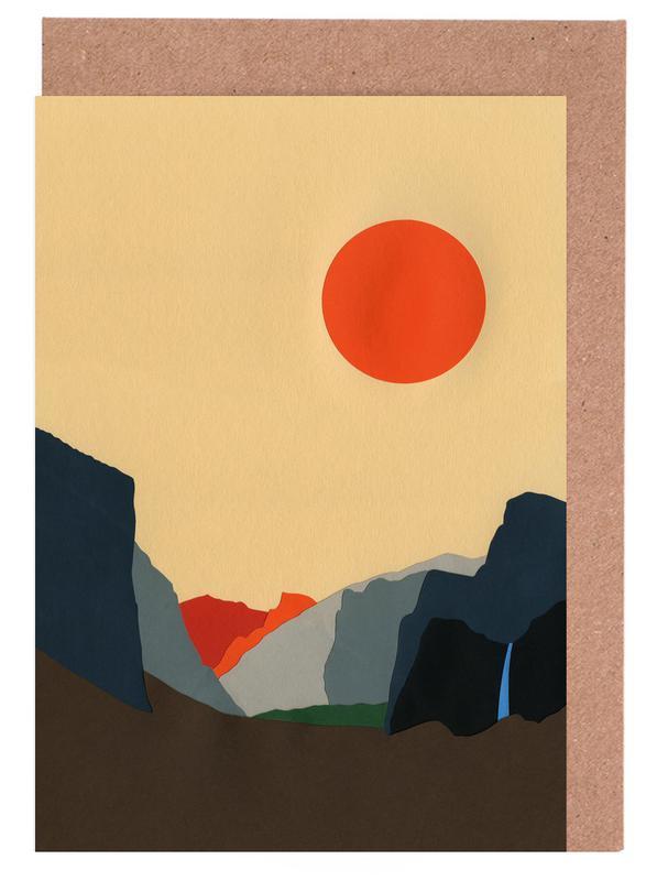 Yosemite Valley -Grußkarten-Set