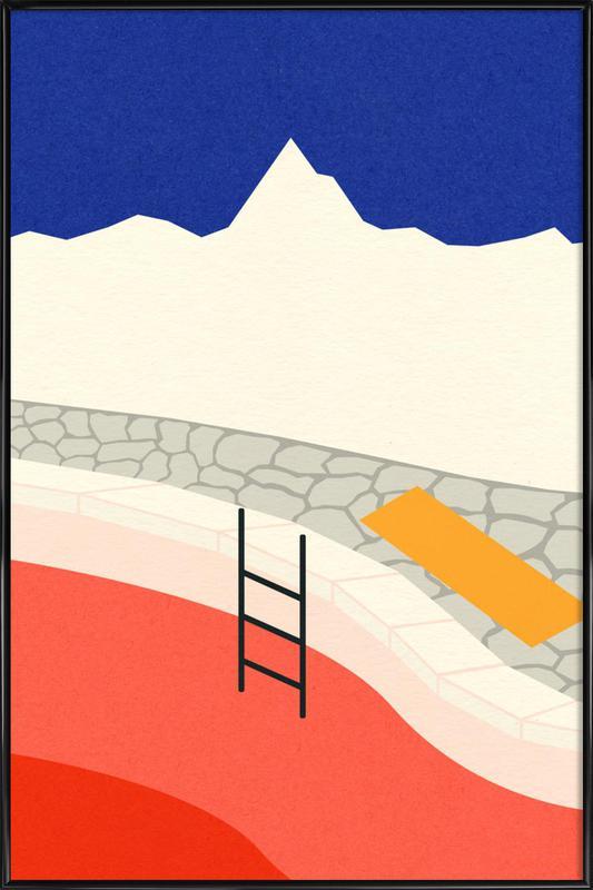 Mountain Yoga Retreat -Bild mit Kunststoffrahmen