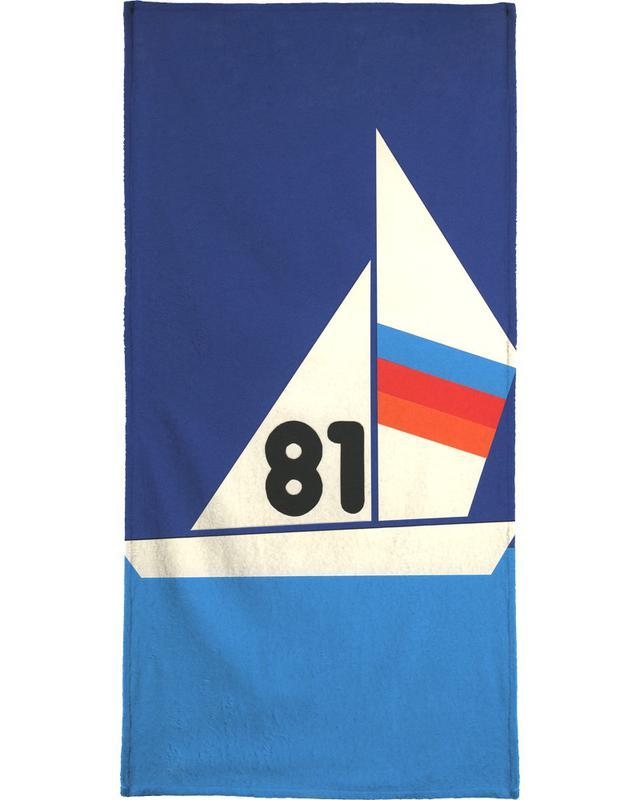 Sailing Regatta 81 Beach Towel