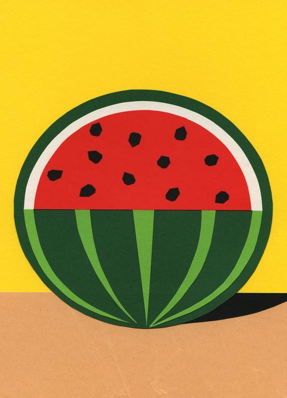 Three Quarter Melon canvas doek