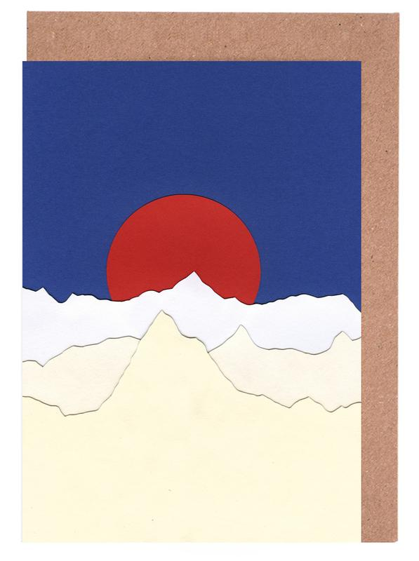 French Alps Greeting Card Set