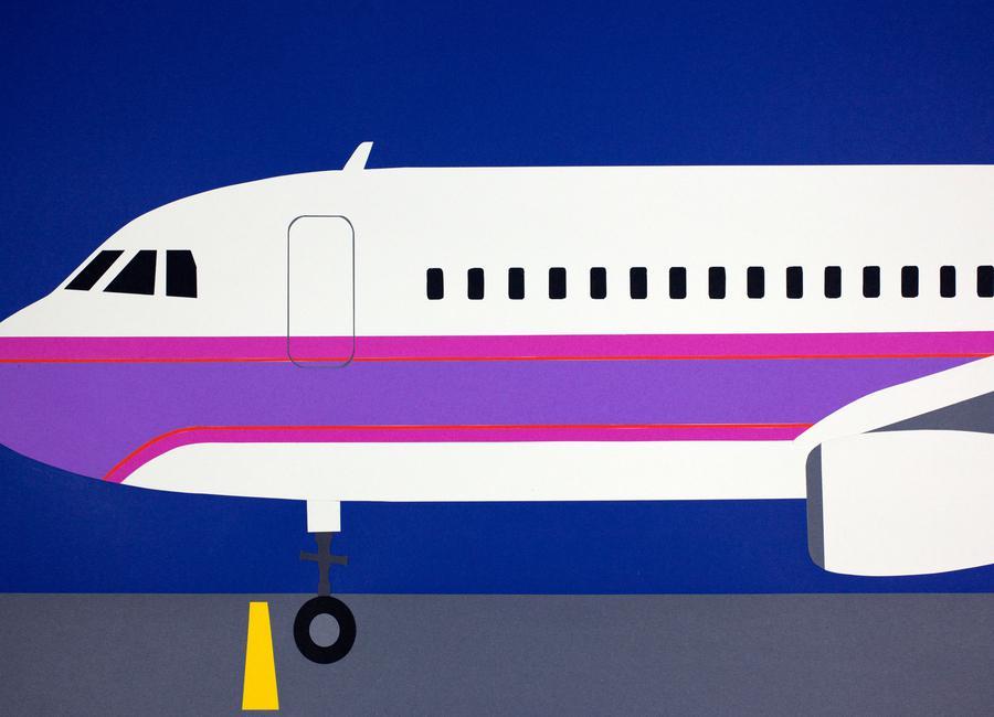 Airplane A320 Leinwandbild