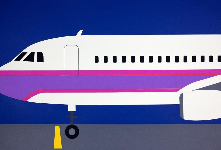 Airplane A320 Alu Dibond Druck