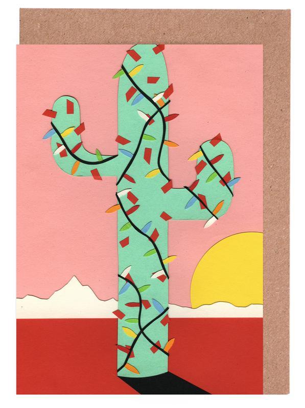 Christmas Cactus Greeting Card Set