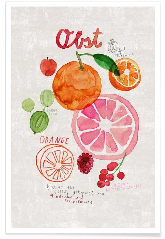 Obst -Poster