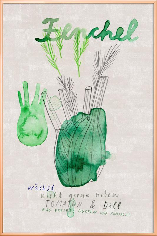 Fenchel Poster im Alurahmen   Dekoration > Bilder und Rahmen > Poster   Mehrfarbig