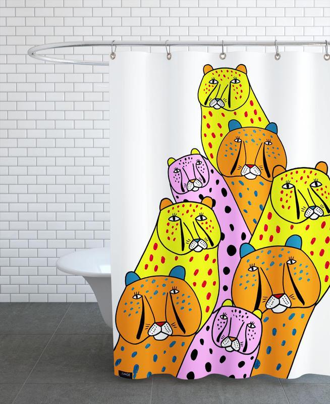 Cheetah Gang Shower Curtain