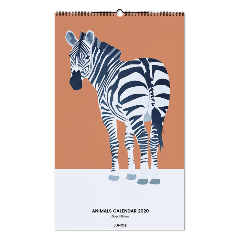 Animals Calendar 2020 - Goed Blauw -Wandkalender
