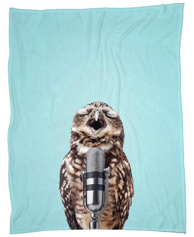 Owl Mic Fleecedecke | Heimtextilien > Decken und Kissen > Mehr-Decken | Mehrfarbig