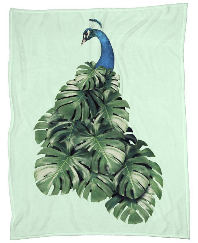 Monstera Bird Fleecedecke   Heimtextilien > Decken und Kissen > Mehr-Decken   Mehrfarbig