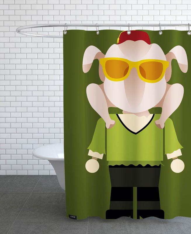 Monica Geller Toy Shower Curtain