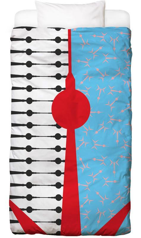 Berliner Fernsehturm Kinderbettwäsche | Kinderzimmer > Textilien für Kinder > Kinderbettwäsche | Mehrfarbig | Baumwolle