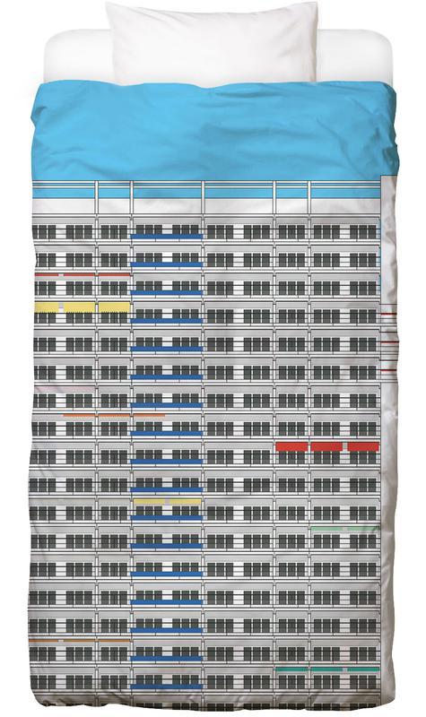 Plattenbau Berlin Kinderbettwäsche | Kinderzimmer > Textilien für Kinder > Kinderbettwäsche | Mehrfarbig | Baumwolle