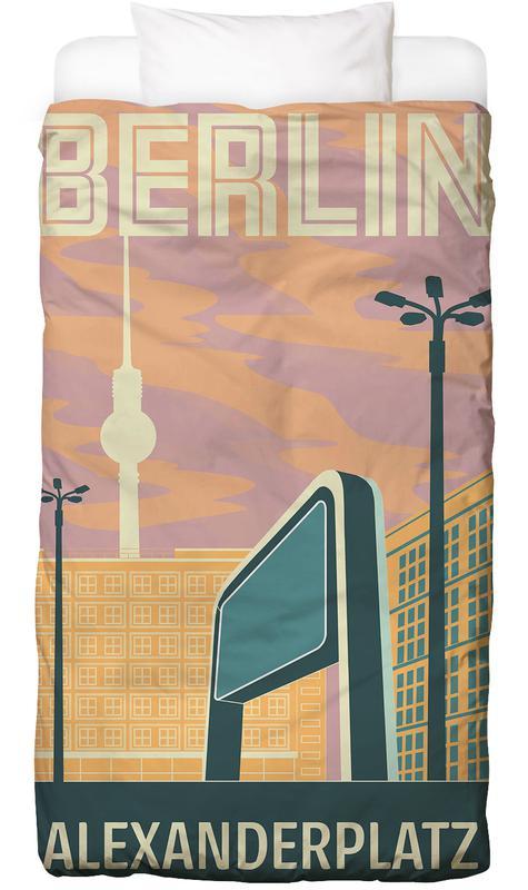 Berlin Alexanderplatz Sonnenuntergang Linge de lit