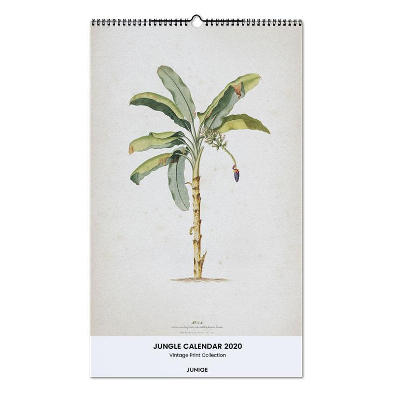 Jungle Calendar 2020 - Vintage Print Collection calendrier mural