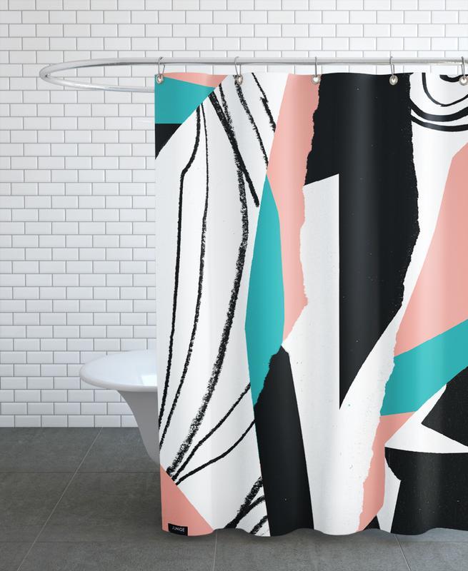 Kalimba Duschvorhang   Bad > Duschen > Duschvorhänge   Mehrfarbig   Polyester