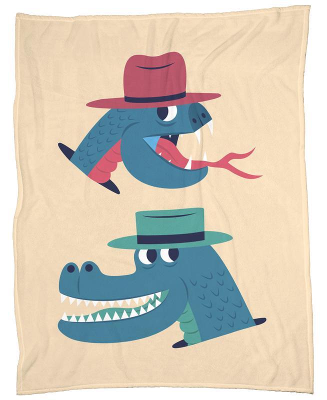 Reptiles Fleecedecke | Heimtextilien > Decken und Kissen > Mehr-Decken | Mehrfarbig