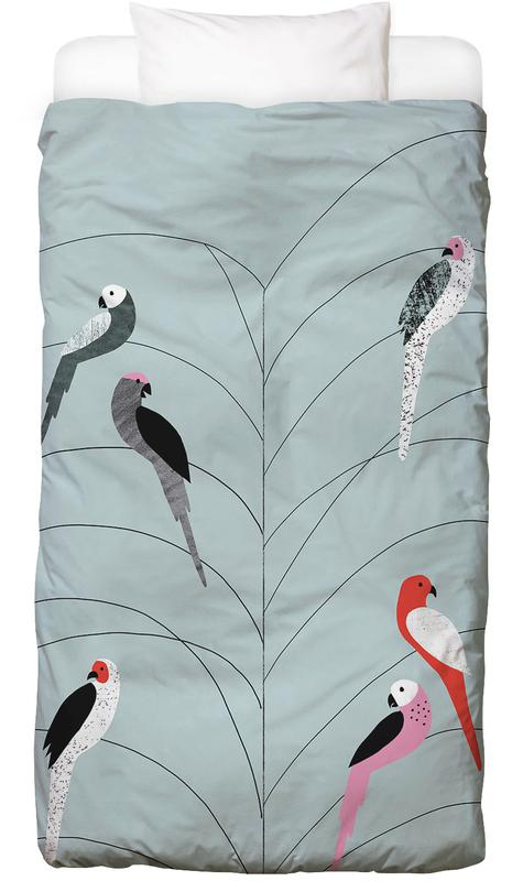Tropicana - Birds on Branch Grey Bettwäsche