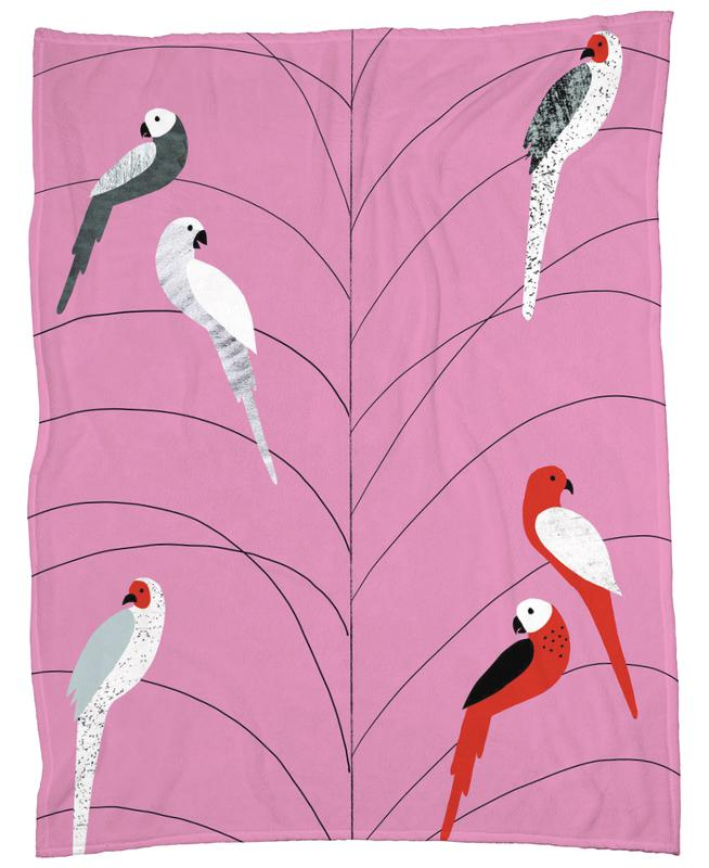 Tropicana - Birds on Branch Pink plaid