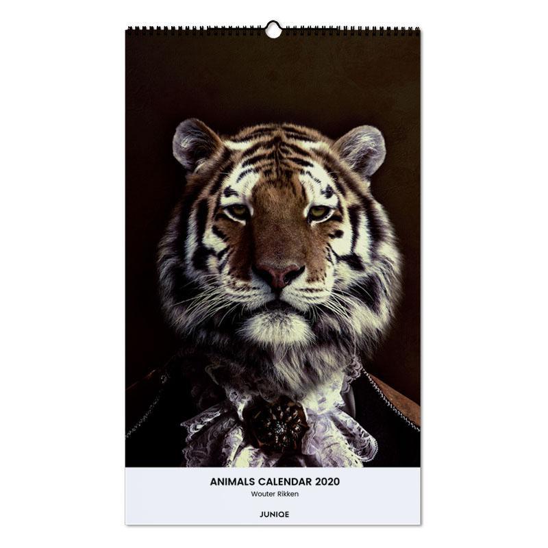 Animals Calendar 2020 - Wouter Rikken Wall Calendar