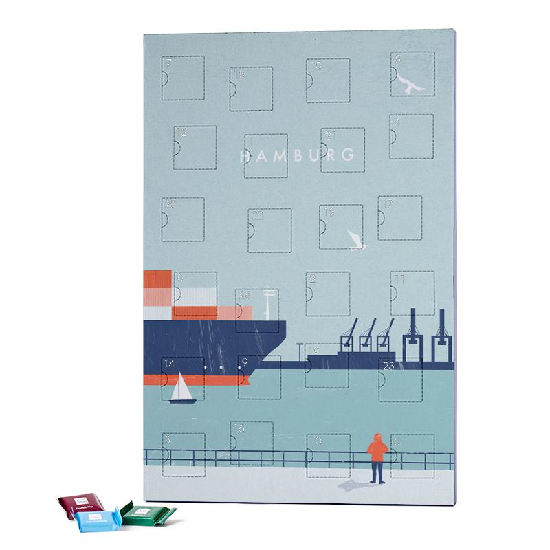Hamburg 2019 Chocolate Advent Calendar - Ritter Sport