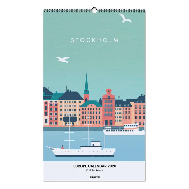 Europe Calendar 2020 - Katinka Reinke Wall Calendar