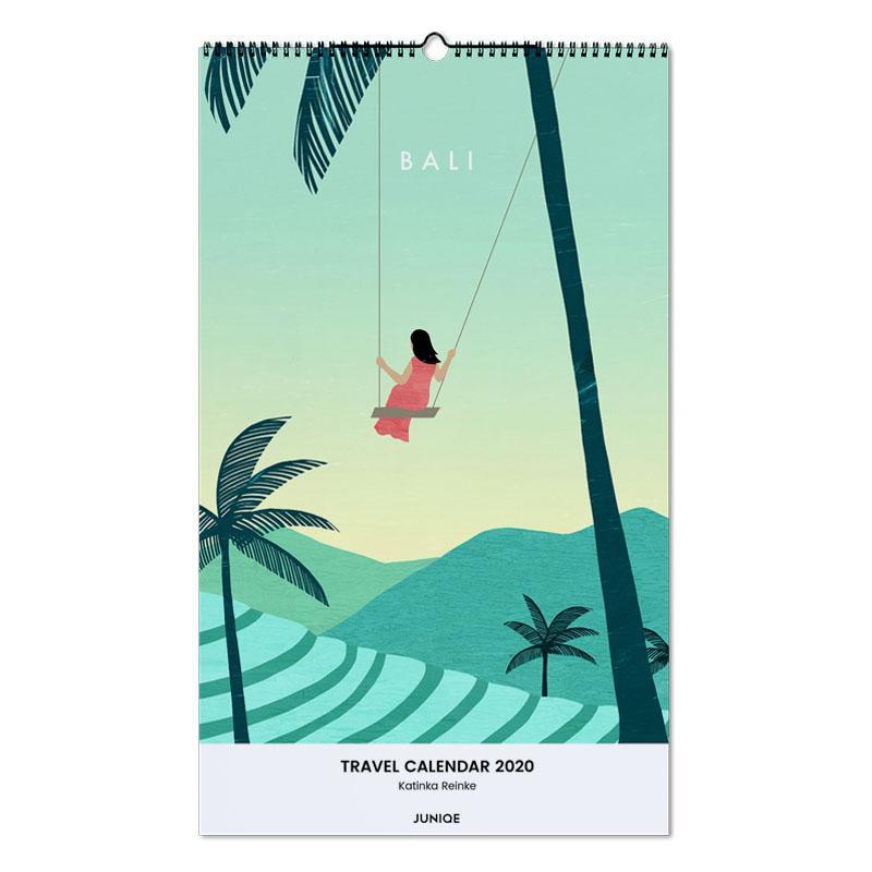 Travel Calendar 2020 - Katinka Reinke Wall Calendar