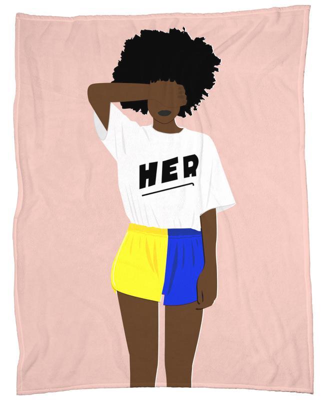 Her I Fleece Blanket