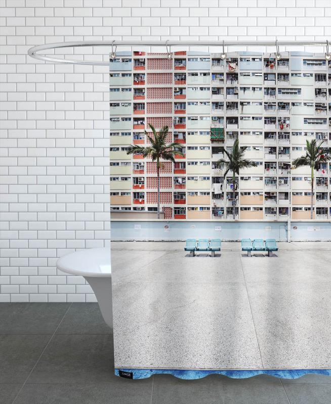 Pastel Boulevard -Duschvorhang