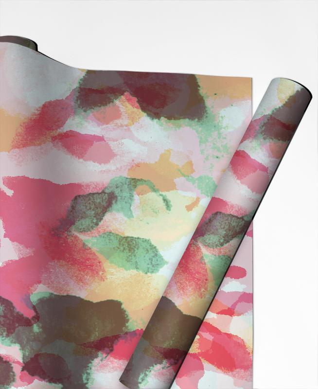Floral Aquaellic -Geschenkpapier