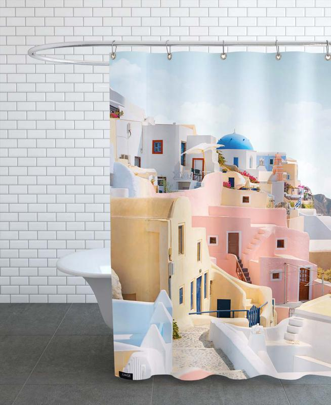 Santorini -Duschvorhang
