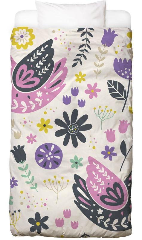 Scandinavian Birds Pattern Kinderbettwäsche | Kinderzimmer > Textilien für Kinder > Kinderbettwäsche | Mehrfarbig | Baumwolle