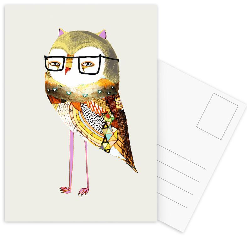 Best Owl Postcard Set
