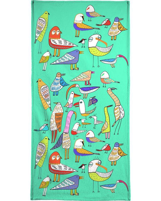 Birds Bath Towel