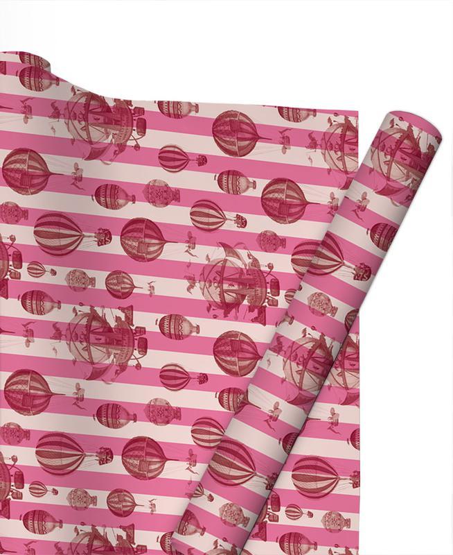 Pattern Balloon Stripes Gift Wrap