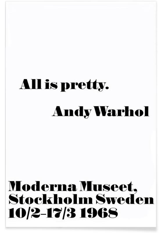 Andy Warhol - All is pretty affiche