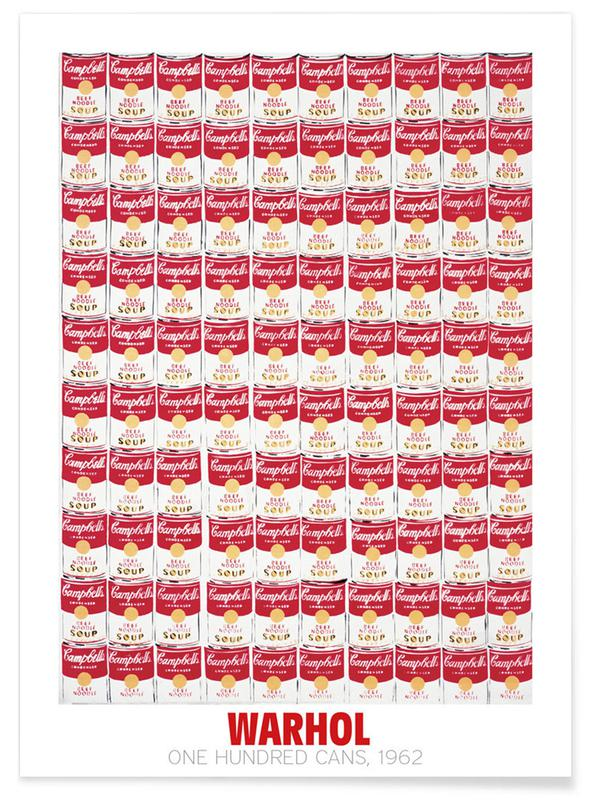 Andy Warhol - One Hundred Cans, 1962 Poster