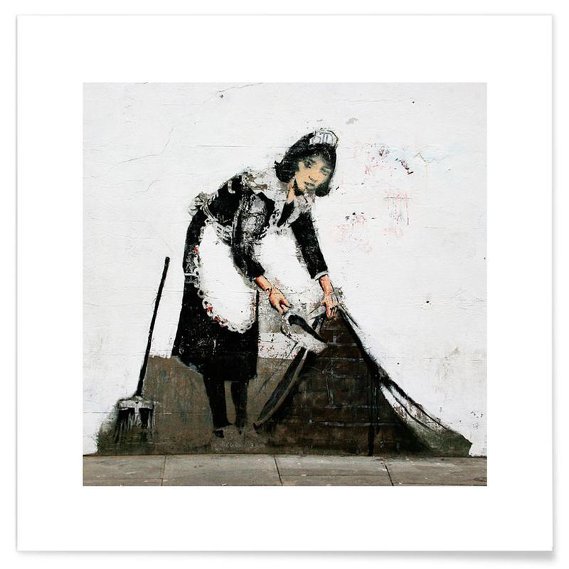 Banksy Cleaning Lady -Poster