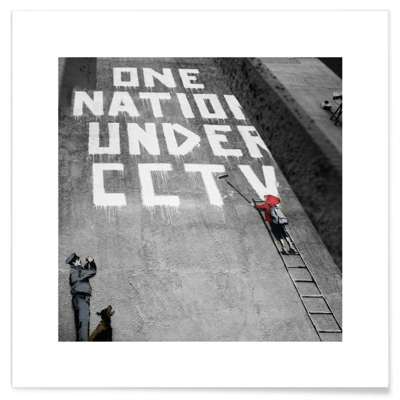 Banksy One Nation Under CCTV affiche