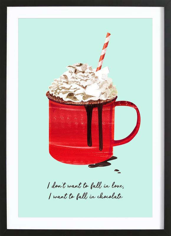 Fall in Chocolate Premium Poster gerahmt   Dekoration > Bilder und Rahmen > Poster   Mehrfarbig