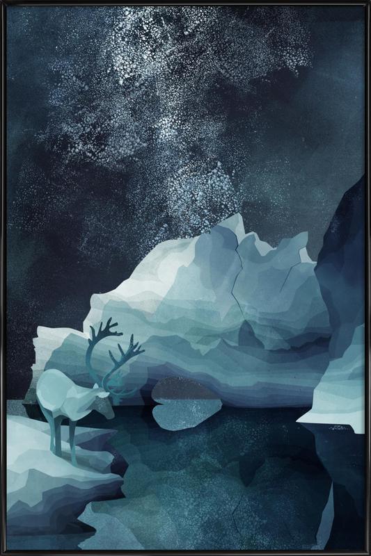 Rheindeer By Night ingelijste poster