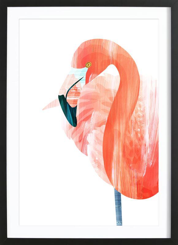 Pink Lady -Bild mit Holzrahmen