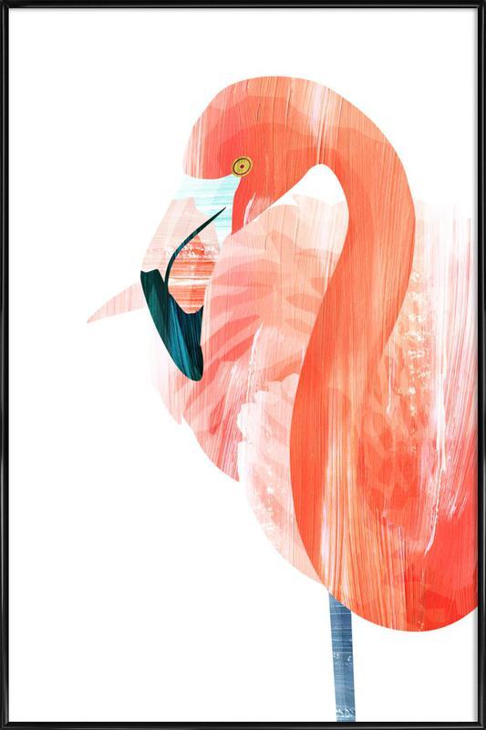 Pink Lady -Bild mit Kunststoffrahmen