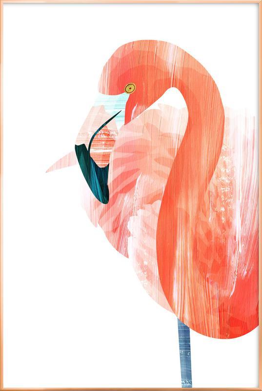 Pink Lady -Poster im Alurahmen