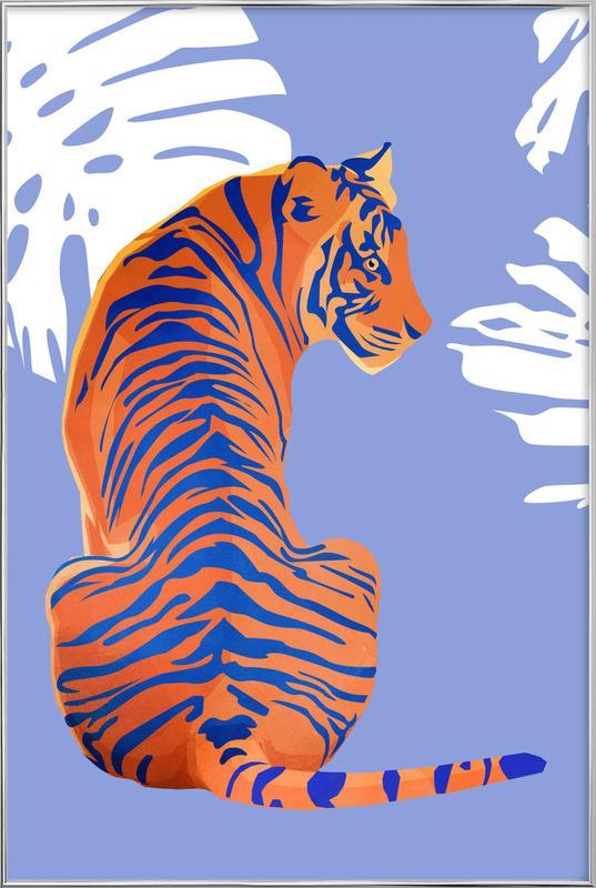 Tiger poster in aluminium lijst