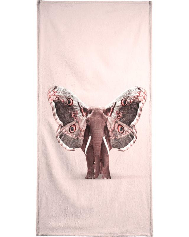Papillophant Beach Towel