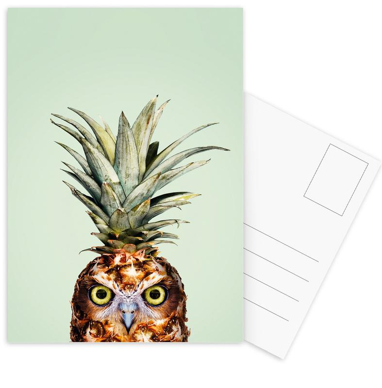 Pineapple Owl -Postkartenset