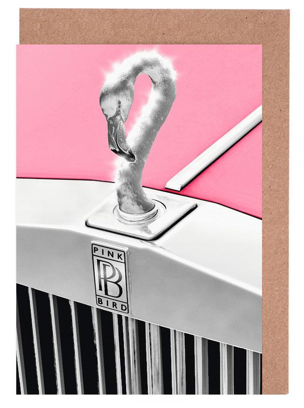 Pink Bird cartes de vœux