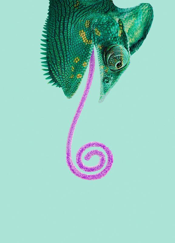 Candy Chameleon -Leinwandbild