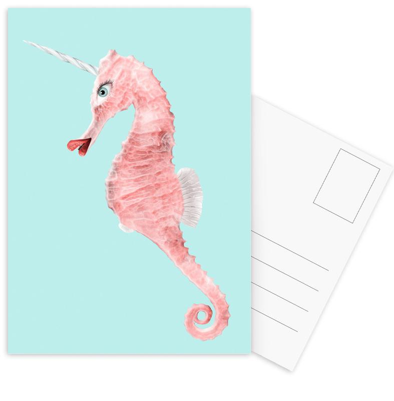 Sea Unicorn Postcard Set